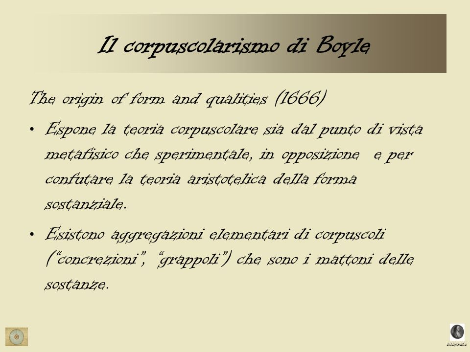 Il corpuscolarismo di Boyle
