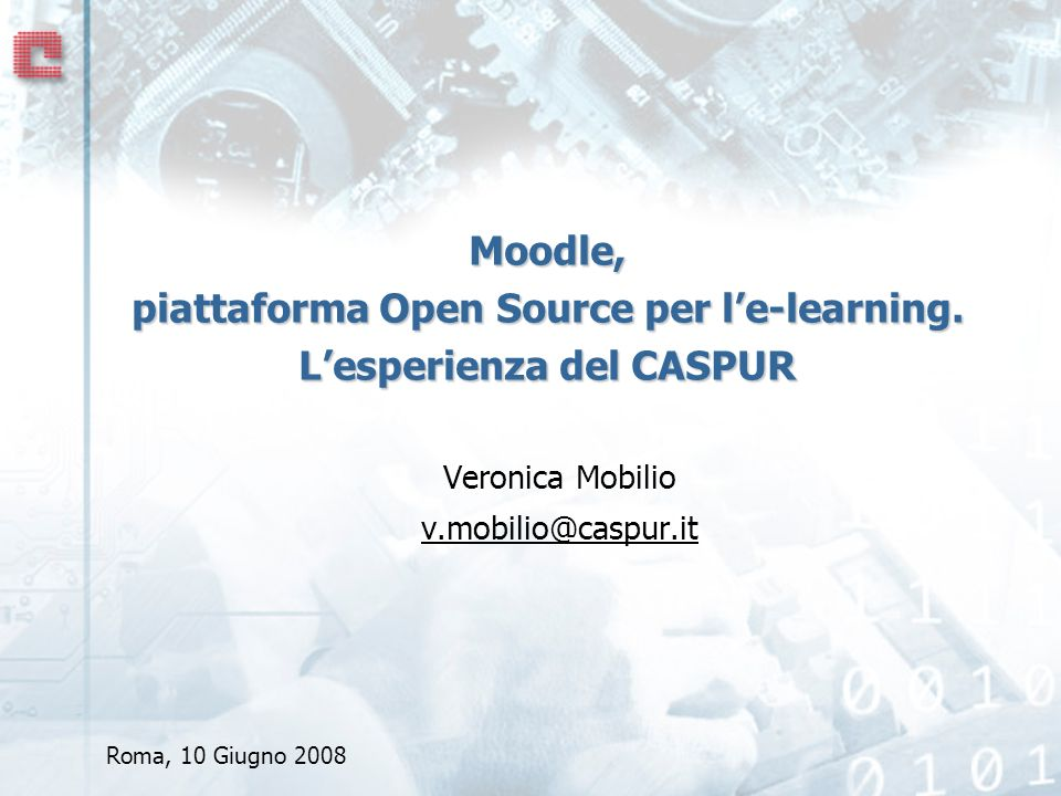 Veronica Mobilio v.mobilio@caspur.it