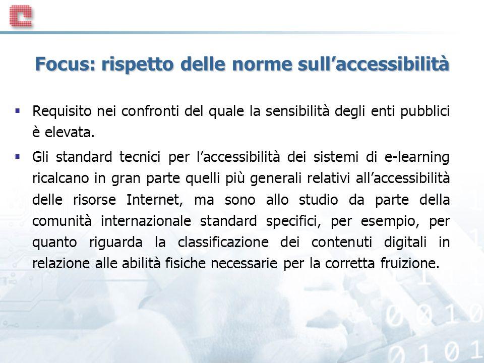 Focus: rispetto delle norme sull'accessibilità