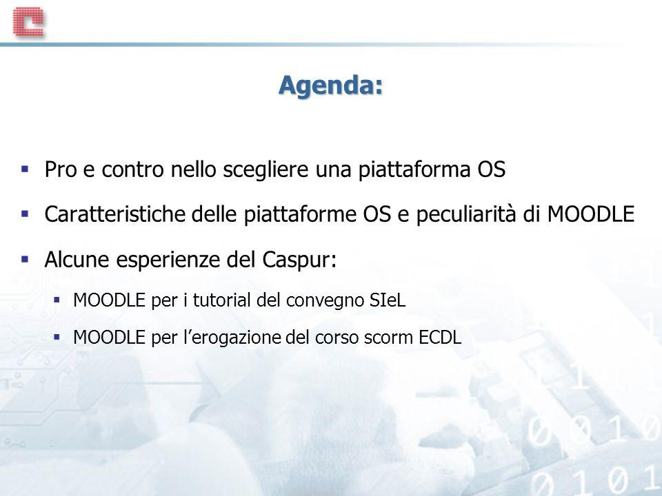 Agenda: Pro e contro nello scegliere una piattaforma OS