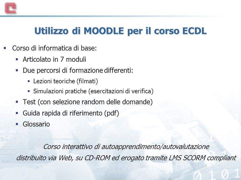 Utilizzo di MOODLE per il corso ECDL
