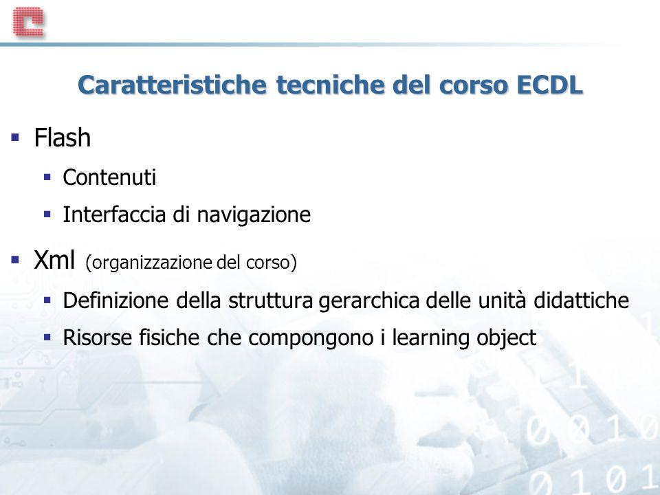 Caratteristiche tecniche del corso ECDL