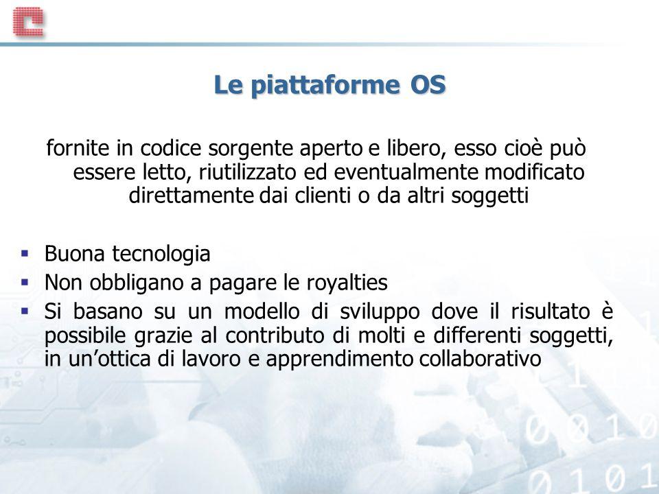 Le piattaforme OS
