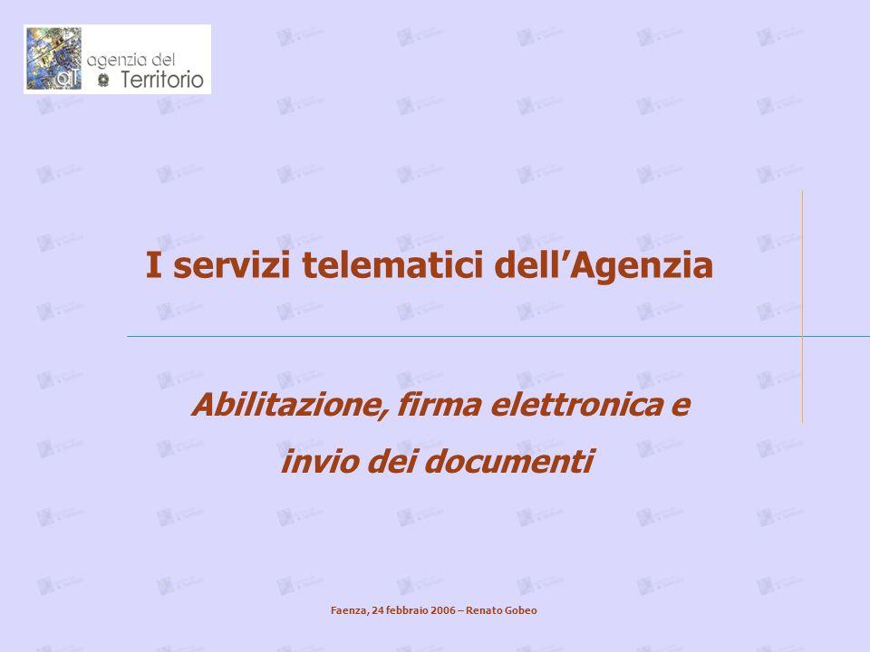 I servizi telematici dell'Agenzia