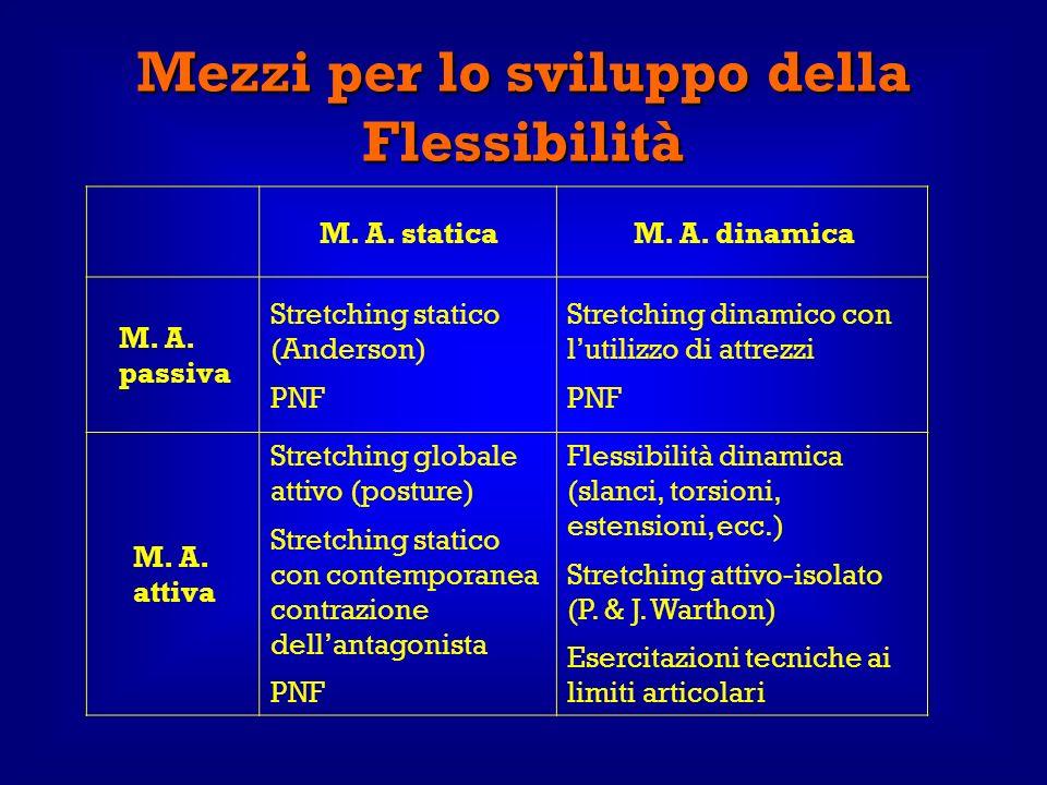 Mezzi per lo sviluppo della Flessibilità