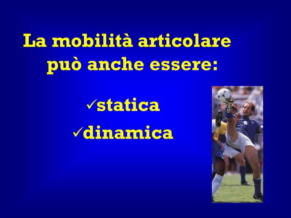 La mobilità articolare può anche essere: