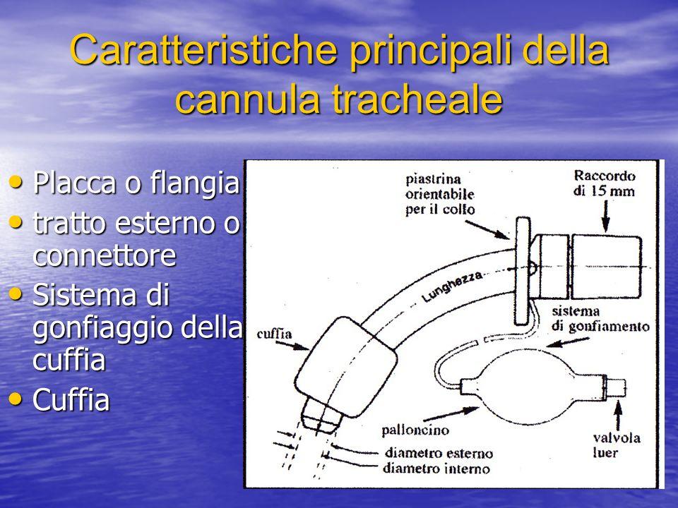 Caratteristiche principali della cannula tracheale