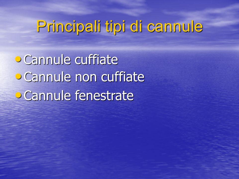 Principali tipi di cannule