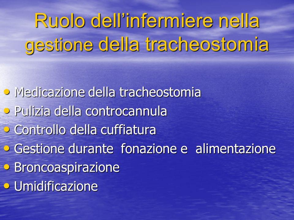 Ruolo dell'infermiere nella gestione della tracheostomia