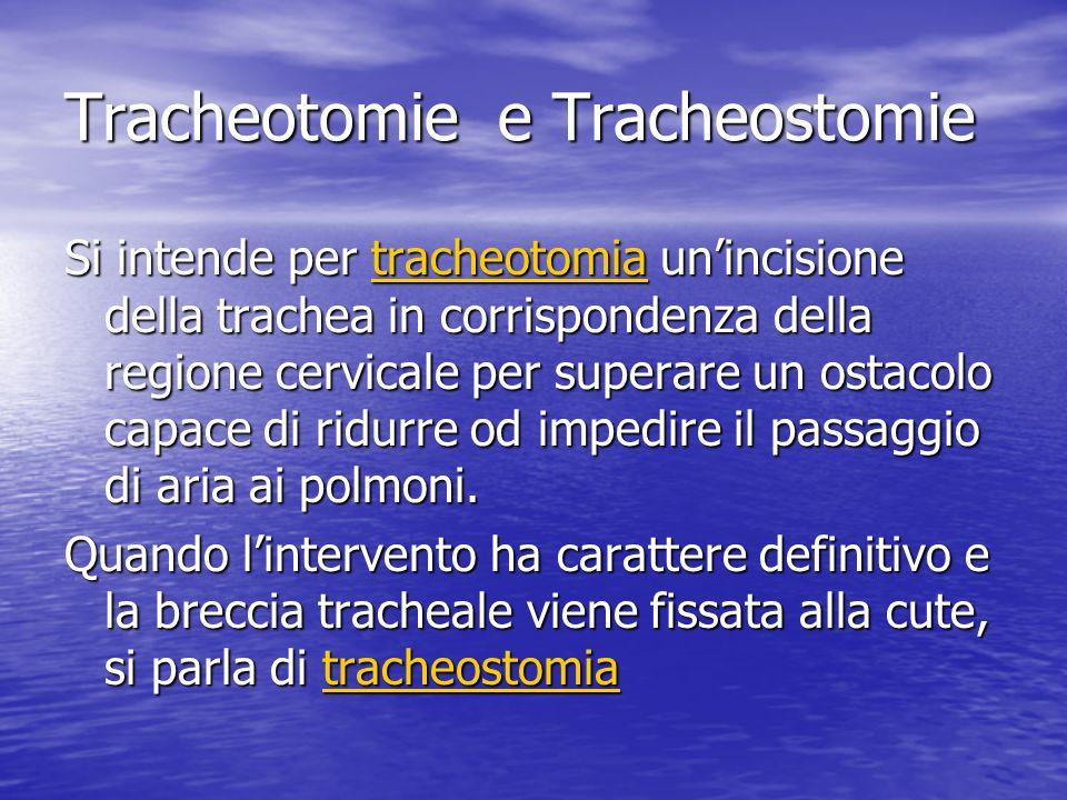 Tracheotomie e Tracheostomie