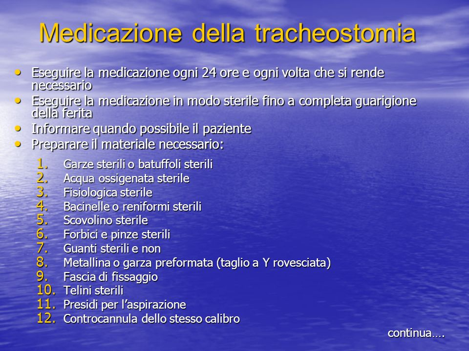 Medicazione della tracheostomia