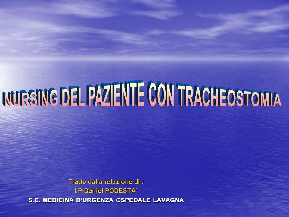 NURSING DEL PAZIENTE CON TRACHEOSTOMIA