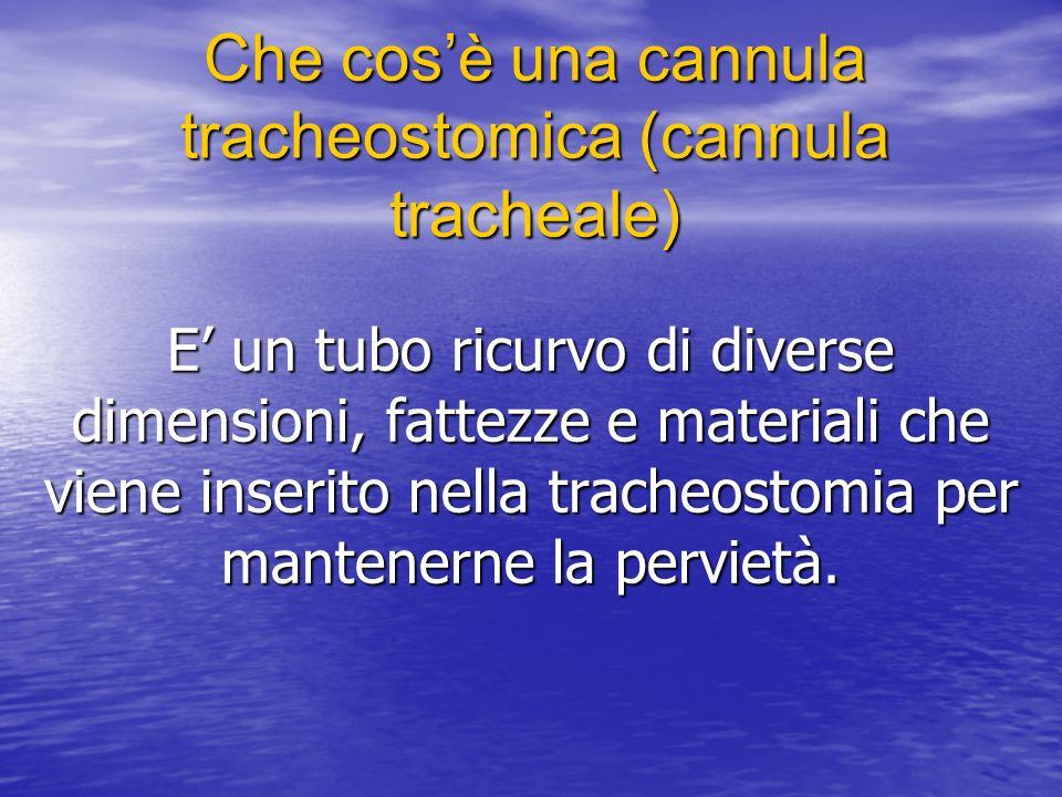 Che cos'è una cannula tracheostomica (cannula tracheale)