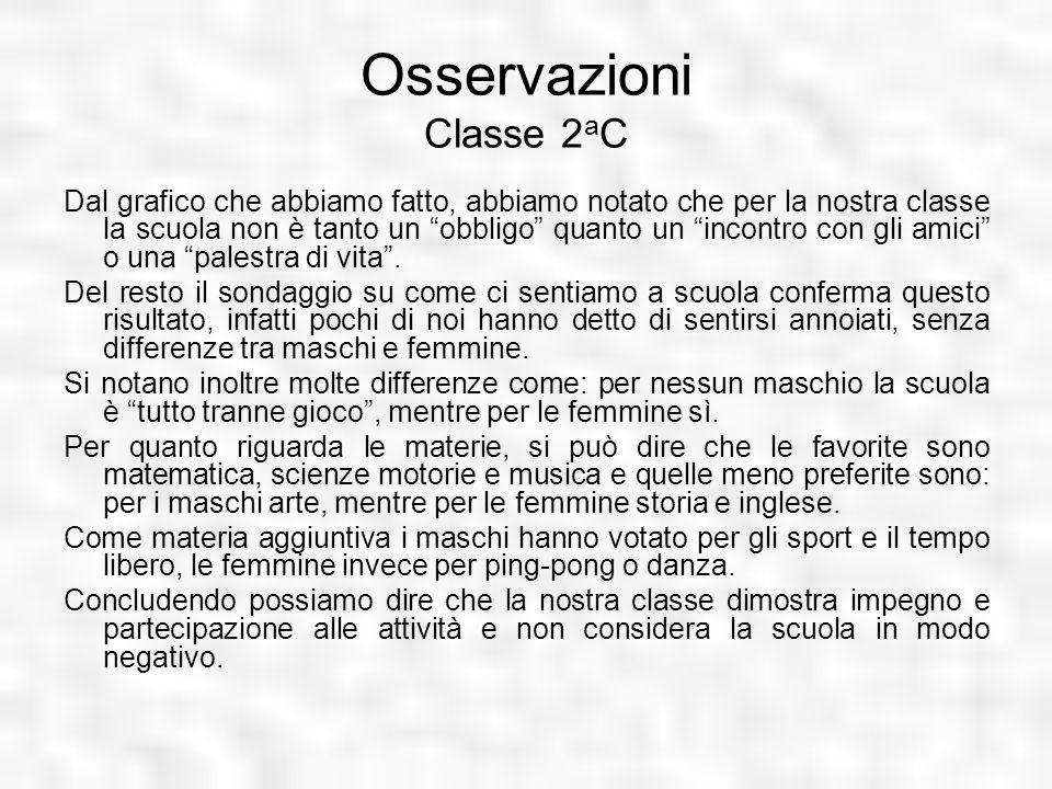 Osservazioni Classe 2aC