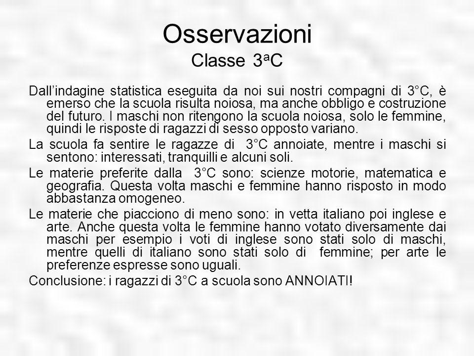 Osservazioni Classe 3aC