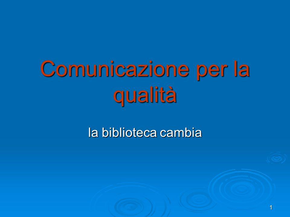 Comunicazione per la qualità