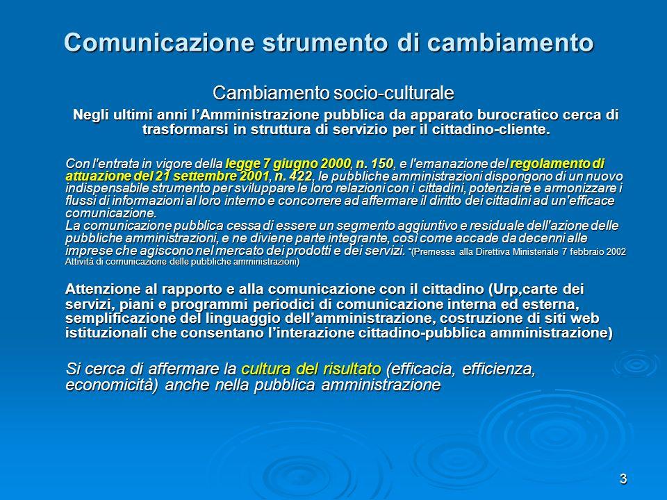 Comunicazione strumento di cambiamento