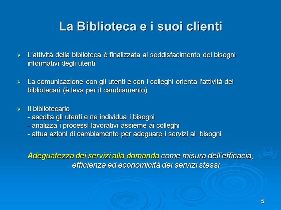 La Biblioteca e i suoi clienti