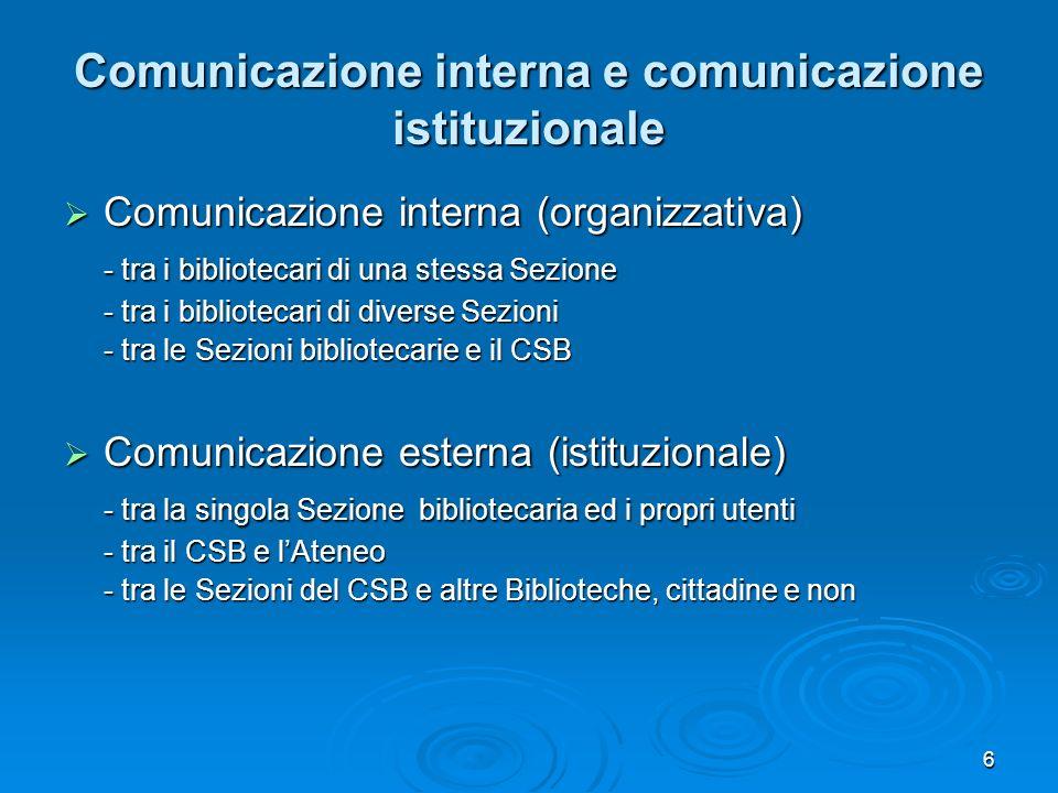 Comunicazione interna e comunicazione istituzionale