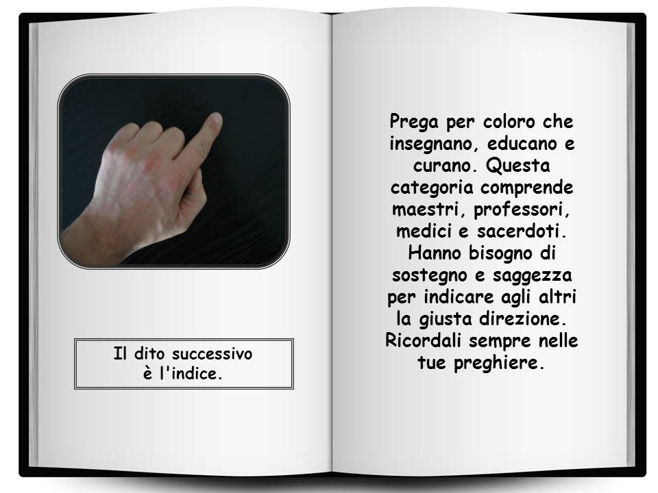 Il dito successivo è l indice.
