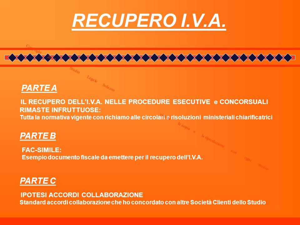 RECUPERO I.V.A. PARTE B PARTE C PARTE A