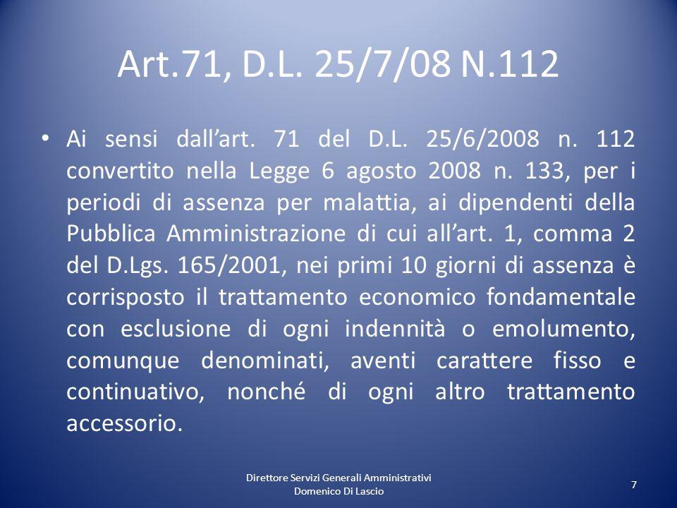 Direttore Servizi Generali Amministrativi Domenico Di Lascio