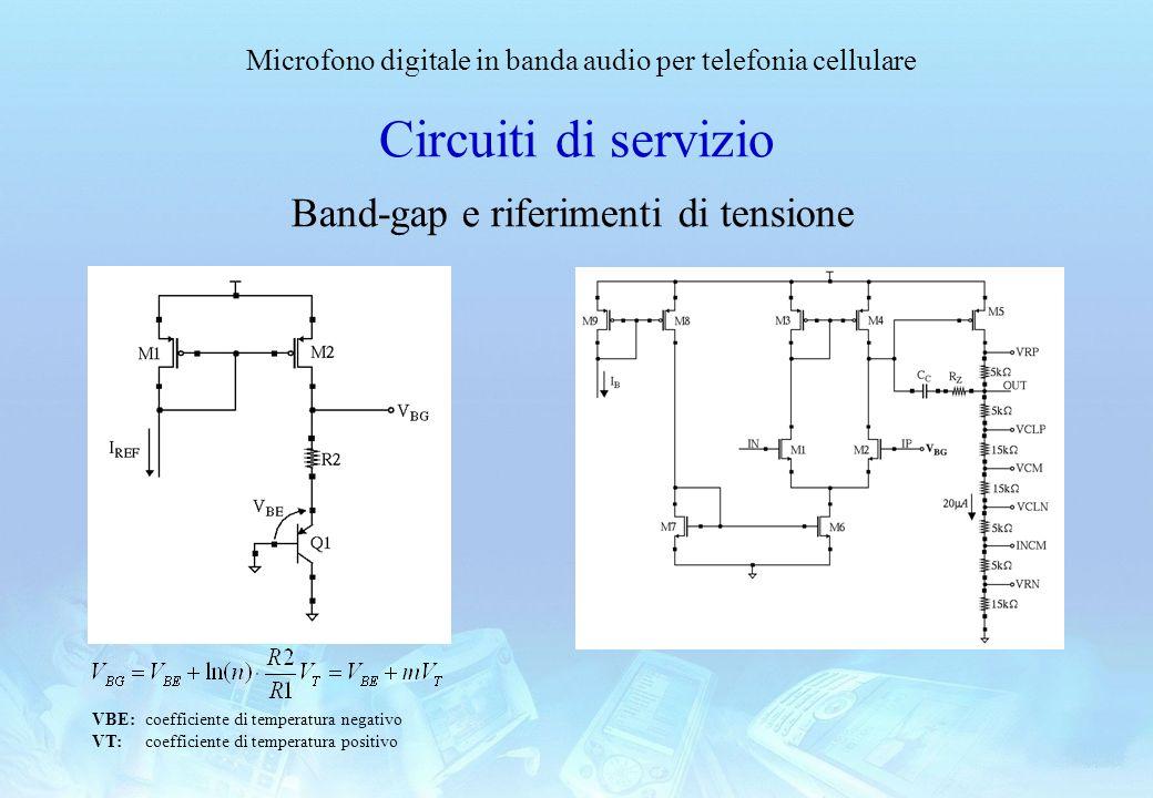 Circuiti di servizio Band-gap e riferimenti di tensione