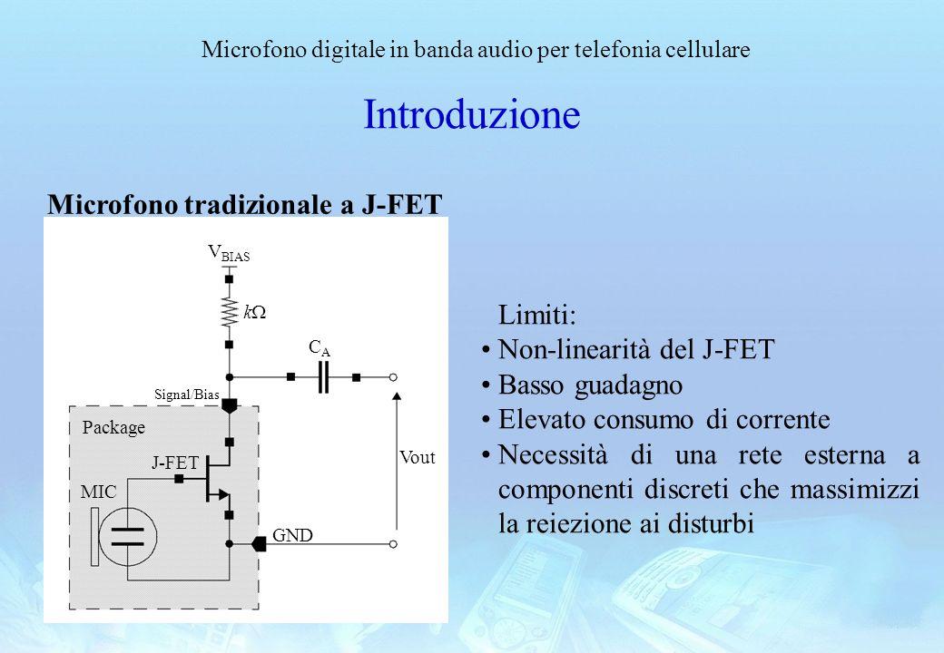 Introduzione Microfono tradizionale a J-FET Limiti: