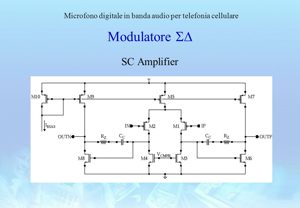 Modulatore SD SC Amplifier