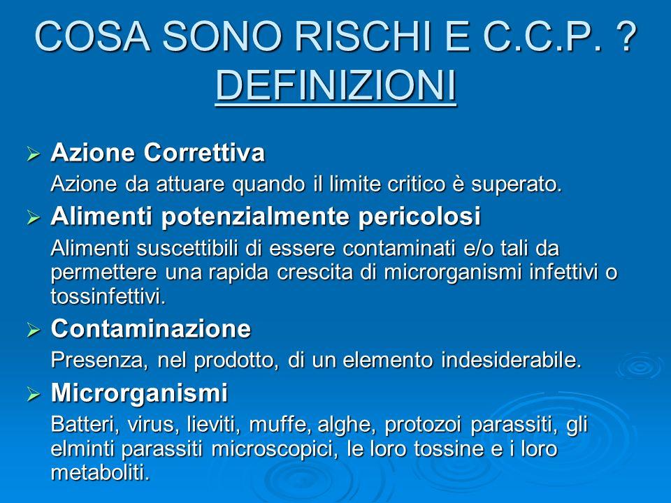 COSA SONO RISCHI E C.C.P. DEFINIZIONI