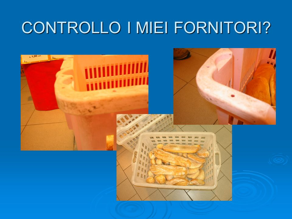 CONTROLLO I MIEI FORNITORI