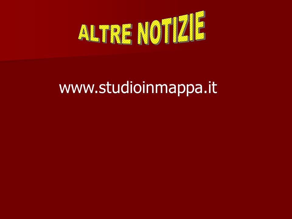 ALTRE NOTIZIE www.studioinmappa.it