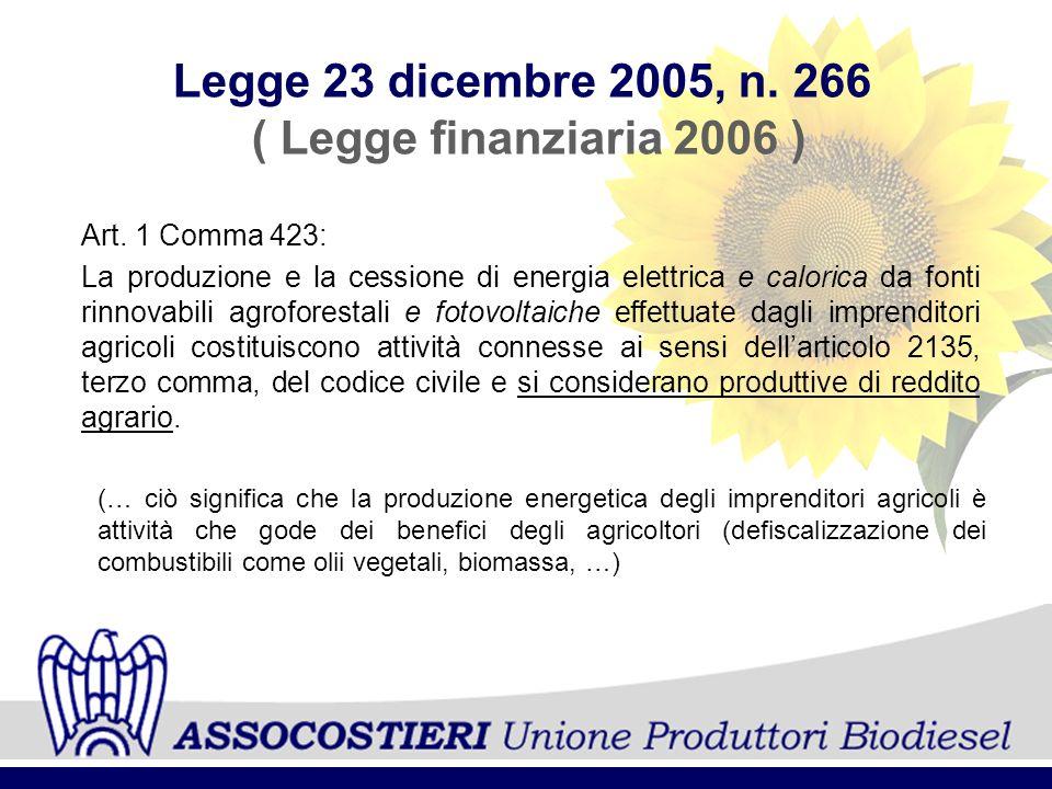 Legge 23 dicembre 2005, n. 266 ( Legge finanziaria 2006 )