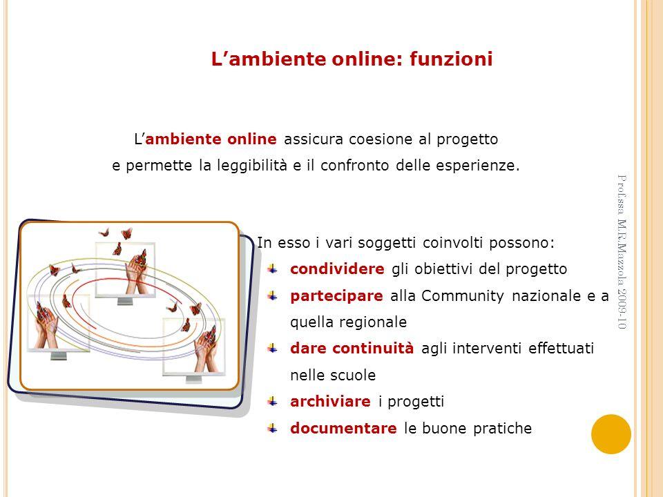 L'ambiente online: funzioni