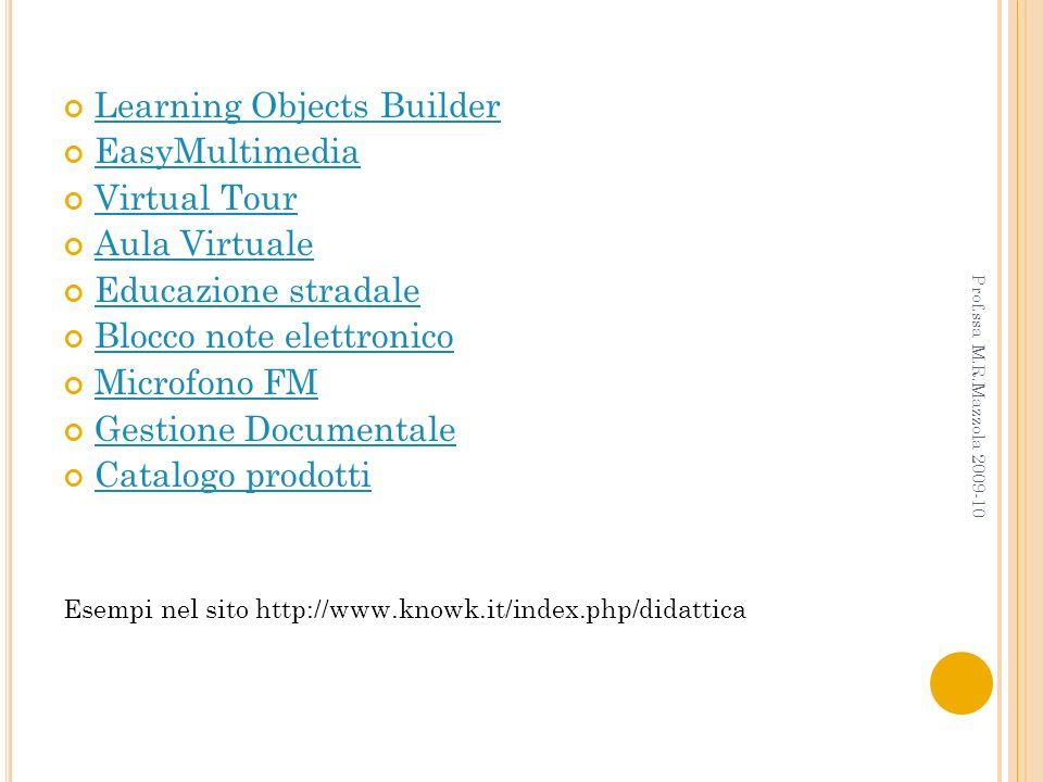 Learning Objects Builder EasyMultimedia Virtual Tour Aula Virtuale