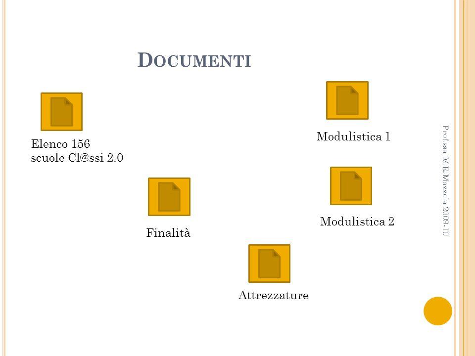 Documenti Modulistica 1 Elenco 156 scuole Cl@ssi 2.0 Modulistica 2