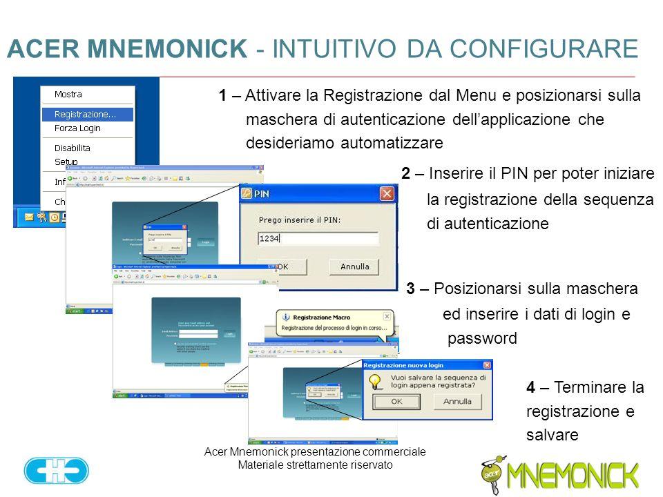 ACER MNEMONICK - INTUITIVO DA CONFIGURARE