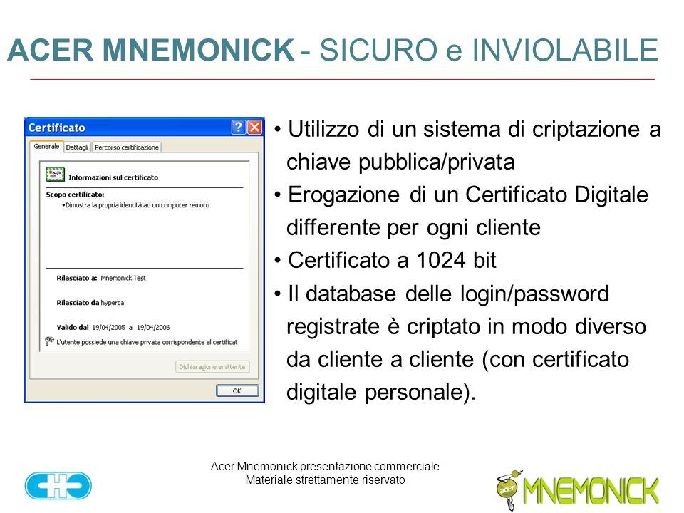 ACER MNEMONICK - SICURO e INVIOLABILE