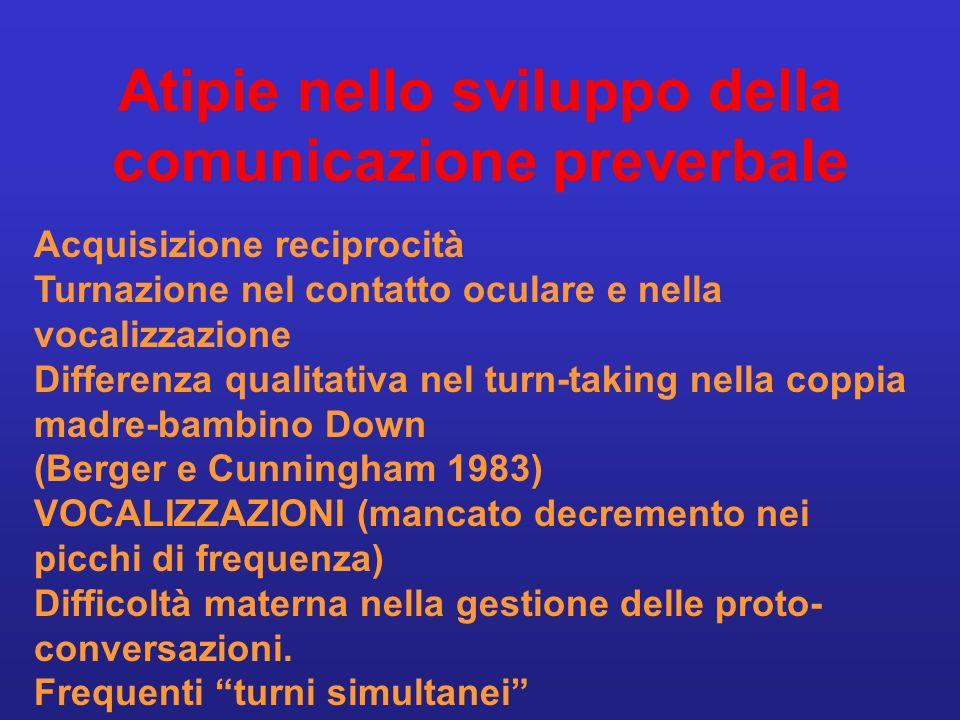 Atipie nello sviluppo della comunicazione preverbale