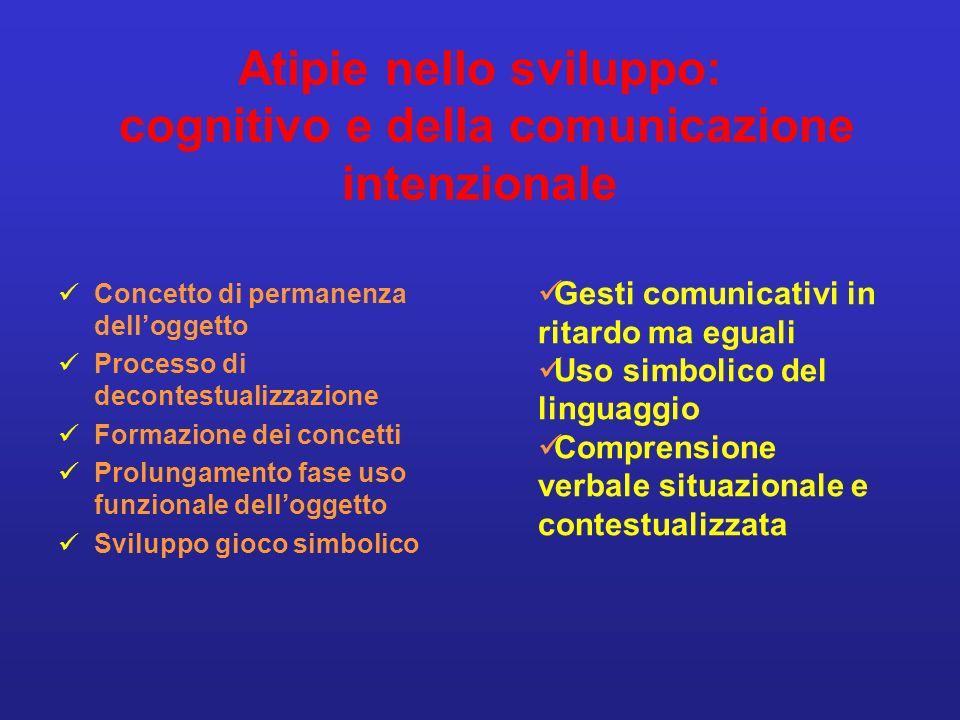 Atipie nello sviluppo: cognitivo e della comunicazione intenzionale