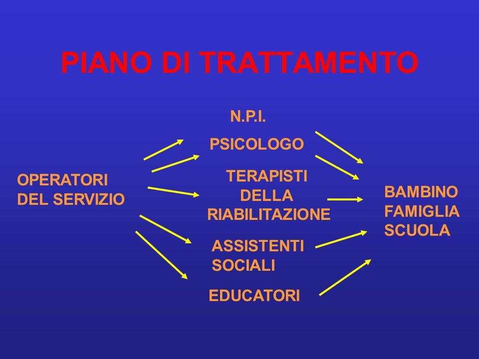 PIANO DI TRATTAMENTO N.P.I. PSICOLOGO TERAPISTI OPERATORI DELLA