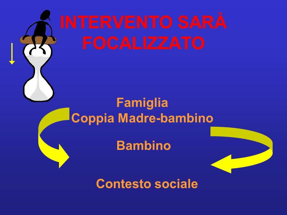 INTERVENTO SARÀ FOCALIZZATO