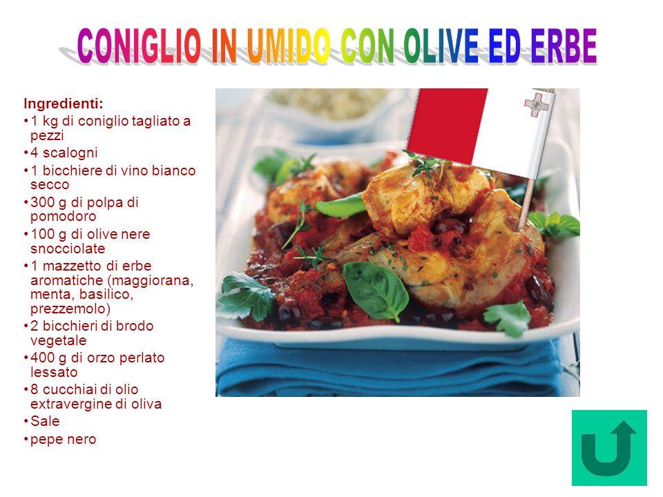 Coniglio in Umido con olive ed Erbe (Malta)