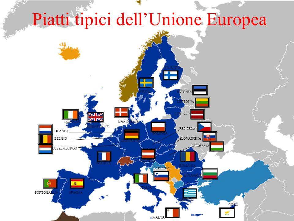 Piatti tipici dell'Unione Europea
