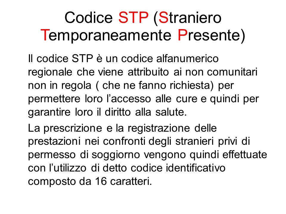 Codice STP (Straniero Temporaneamente Presente)
