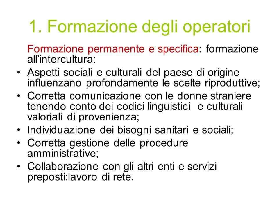 1. Formazione degli operatori