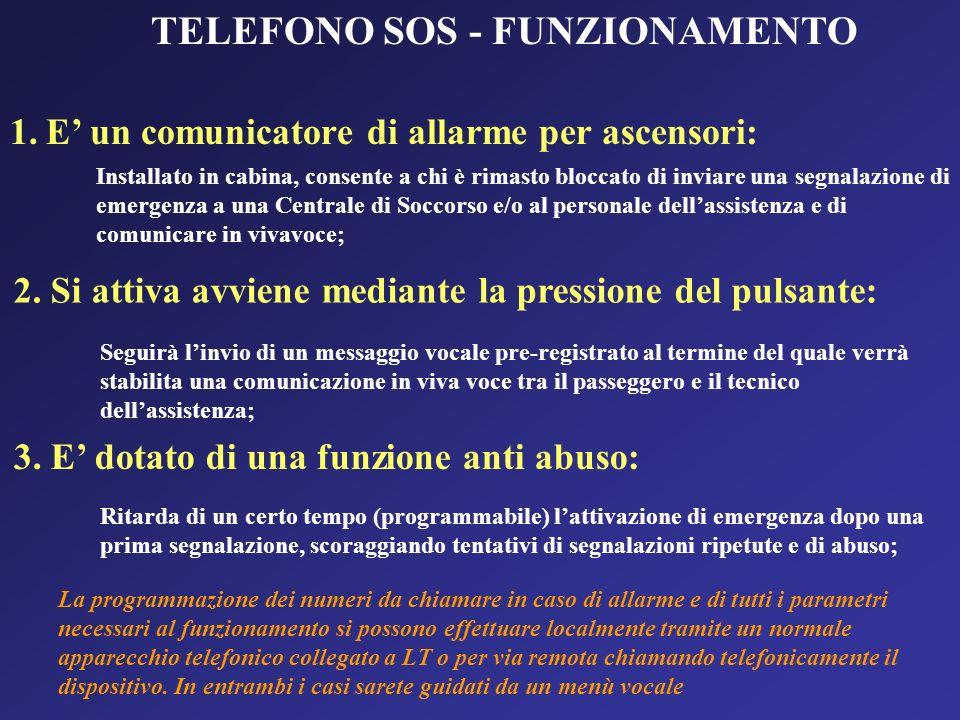 TELEFONO SOS - FUNZIONAMENTO