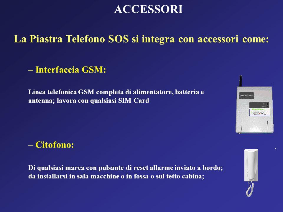 La Piastra Telefono SOS si integra con accessori come: