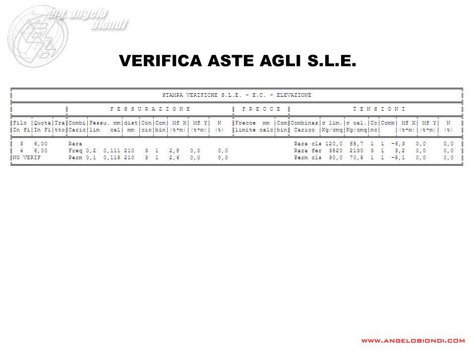 VERIFICA ASTE AGLI S.L.E.