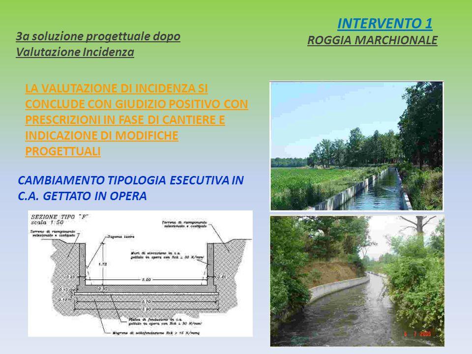 INTERVENTO 1 3a soluzione progettuale dopo Valutazione Incidenza